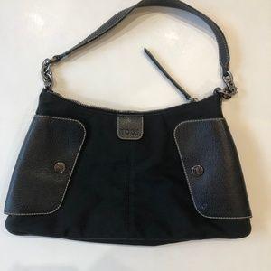 Tod's Purse Shoulderbag Black Nylon Leather Trim